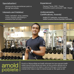 Arnold Poblete personal trainer